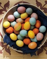 Naturally dyed eggs from our Easter Brunch story.