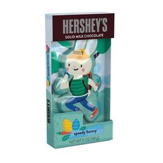 The perfect addition to any Easter basket, HERSHEY'S SPEEDY BUNNY Solid Milk Chocolate Bunny also makes a great dessert item and seasonal décor! You can't go wrong with HERSHEY'S Milk Chocolate!