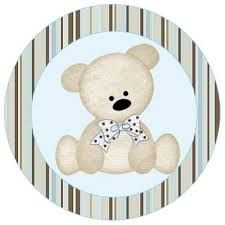 Resultado de imagem para fundo marrom e azul com ursinho