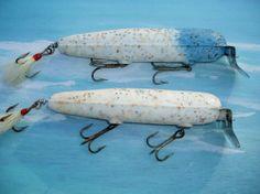"2 Atom Swimmer Vintage Fishing Lures 6"" in Saltwater Striper Plugs 2 oz"