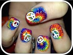 Peace signs! Peace Nails, Peace Love Happiness, Peace And Love, Give Peace A Chance, Peace On Earth, Love Nails, Pretty Nails, My Nails, Tye Dye