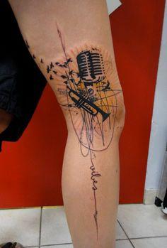 Tattoo e arte xoil da needles side tattoo mural na for Mural tattoo