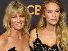Robin Wright and her daughter