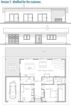 Plan modern house plans, small house plans, passive solar homes, planta baj Business Plan Example, Writing A Business Plan, Modern House Plans, Small House Plans, Passive Solar Homes, Patio Kitchen, Master Bedroom Closet, Solar House, Small Buildings