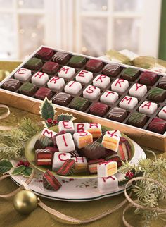 Merry Christmas Petits Fours. It could have your new last name or something :)