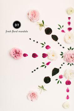 Read More: http://www.stylemepretty.com/living/2015/02/03/diy-fresh-floral-mandala-backdrop/