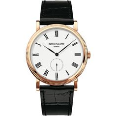 5119R-001 Patek Philippe Calatrava Mens 18K Rose Gold Watch | WatchesOnNet.com