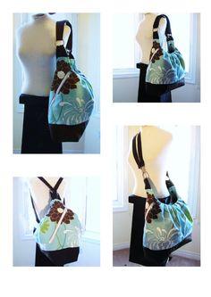 diaper bag - convertible tote, backpack or messenger bag