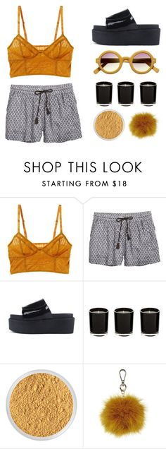"""""""Mustard"""" by ashola18 ❤ liked on Polyvore featuring Intimately Free People, H&M, Bare Escentuals, Topshop, kitchen and vintage"""