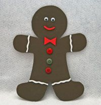 Foam Gingerbread Man Craft-  I think we'll be slightly modifying this project by using construction paper to make the gingerbread man and a hole punch with ribbon to make this little guy into a Christmas ornament.