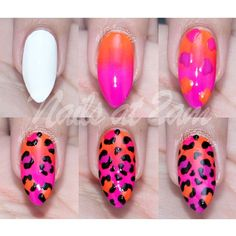 As promised: Neon Leopard Print Tutorial ♥ This is the first post up on the facebook page *link is in my bio* with the list of colours I used and a quick set of instructions (: