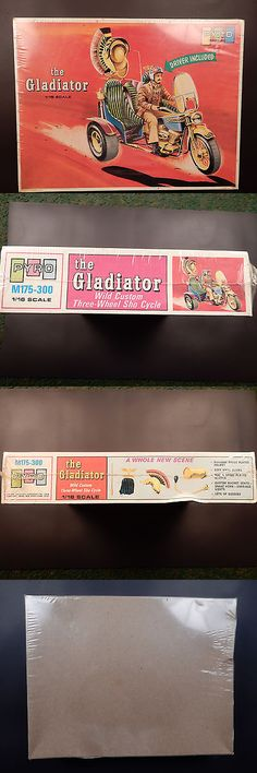 Motorcycle 2591: 1970 Pyro Plastics Custom Roman Trike Motorcycle The Gladiator 1 16 -> BUY IT NOW ONLY: $90 on eBay!