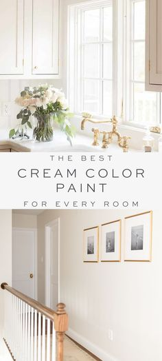 Cream color paint is a warm neutral wall color that fits just about every home and every room. The best cream paint colors for walls – these warm white paint colors are all around easy to use. Off White Paint Colors, Cream Paint Colors, Bedroom Paint Colors, Paint Colors For Living Room, Paint Colors For Home, Hallway Paint Colors, Off White Bedrooms, White Wall Bedroom, White Wall Paint