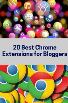 One of the benefits of using Google Chrome as your browser is an extensive library of Chrome extensions for bloggers that can help you in blogging but also in some simple web activities you are doing every day. Considering there are so many Chrome extensions available it is very subjective to decide what are the best for you. I did it for you. Check it out!   #chrome #chromeextensions #bloggin