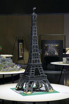 """""""Paris,Banks of the Seine"""" Lego Architecture, Lego Brick, Exhibit, Savannah Chat, Banks, Peace, Building, Kids, Young Children"""