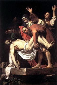 Die Grablegung, öl von Caravaggio (Michelangelo Merisi) (1571-1610, Italy)