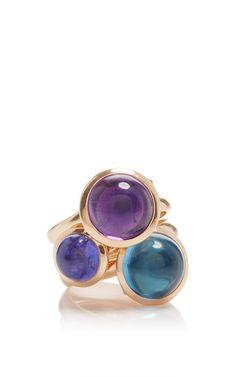 18 K Rose Gold Set Of Three Bouton Rings by TAMARA COMOLLI (=)