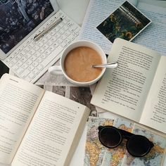 Image de book, coffee, and study