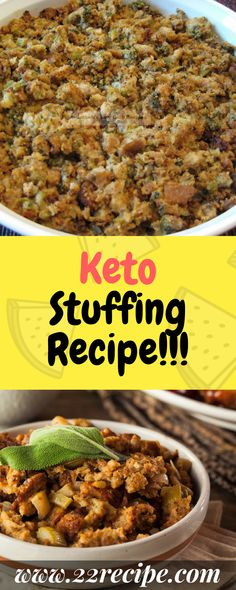 23 Low Carb Keto Thanksgiving Stuffing Recipes / Gluten Free / Paleo / Dressing Recipes Source by de Ketogenic Recipes, Diet Recipes, Healthy Recipes, Keto Foods, Ketogenic Diet, Keto Veggie Recipes, Ketos Diet, Pork Sausage Recipes, Recipies