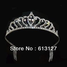 Free Shipping 10pcs/lot Silver Rhinestone Heart Crown Tiara Headband For Wedding-in Hair Jewelry from Jewelry on Aliexpress.com