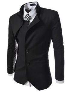 TheLees Mens unbalance 2 button china collar jacket - List price: $88.19 Price: $56.99 Saving: $31.20 (35%)
