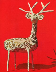 couldn't help but repin.  (i've had this lovely papier-mâché deer in my flickr favorites for quite a while now.)