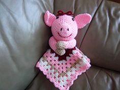 Ravelry: Piggy Lovey/Security Blanket pattern by Jo-Anne Wilkes-Baker