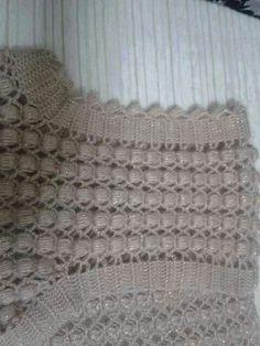 Gradient Baby Vest Making # Baby Knitting Patterns, Crochet Baby Dress Pattern, Stitch Patterns, Crochet Patterns, Diy Crafts Knitting, Crochet Crafts, Crochet Stitches, Knit Crochet, Crewel Embroidery