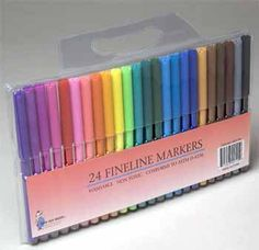 24 Fineline Markers. Washable. Non Toxic. by Good Old values. $3.99. markers. 24 fineline markers. This is a brand new set of 24 markers.  They are non toxic and washable.  They are in a plastic case and are brand new.