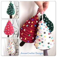 Xmas Tree ornaments Free Tutorial Bu AnnooCrochet Designs