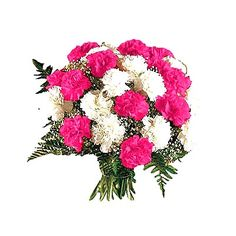 Pink and White Carnation Flower Bouquet Father's Day Flowers, Hand Flowers, Wedding Flowers, Fresh Flowers, White Carnation Bouquet, Pink Flower Bouquet, Online Flower Delivery, Anniversary Flowers, Pink And White Flowers