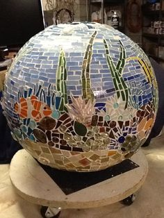 Mosaic ball...underwater theme