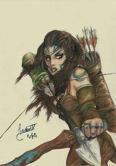 "Warriors: ""Woad Ashe,"" by JaidenIV, at deviantART."