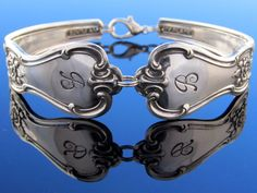 Spoon Bracelet Large B Monogram Signature by dankartistry on Etsy, $26.00