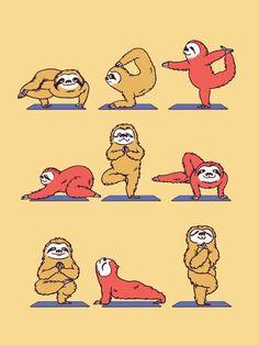 Sloth Yoga... Why am I finding so many sloth yoga pics?