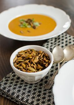 Recipe: Squash & Lemongrass Soup with Spiced Pumpkin Seeds — Recipes from The Kitchn