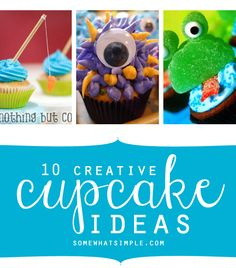 Tired of boring ol' cupcakes? Try one of these super cute + creative cupcake ideas!