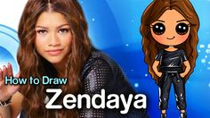 How to Draw Zendaya | Disney's K.C. Undercover