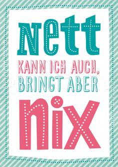 Nett kann ich auch - Postkarten - Grafik Werkstatt Bielefeld