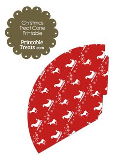 Santas Sleigh Printable Treat Cone from PrintableTreats.com