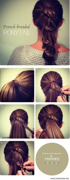 French-Braided-Pony-Tail.jpg (601×1550)