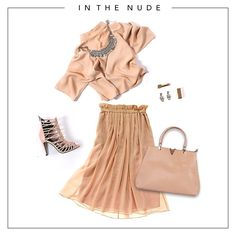 Being in the nude doesn't have to be embarrassing, impress everyone with the au natural colour palette.