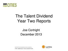 The Talent Dividend Year Two Reports
