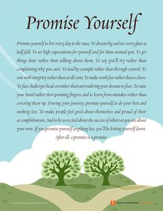 Promise Yourself | Values to Live By  | www.FrankSonnenbergOnline.com