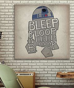 Look at this Gallery Wrapped Canvas by Star Wars Star Wars Decor, Star Wars Room, Cuadros Star Wars, Geek Out, Decoration, R2 D2, Wrapped Canvas, Playroom, Nerdy