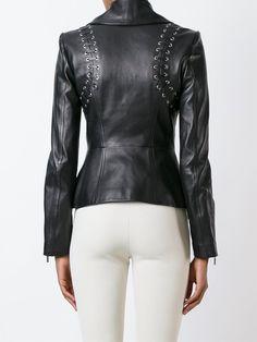 Plein Sud fitted leather jacket