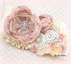 Boda marco Blush cuarzo rosa crema marfil nupcial por SolBijou