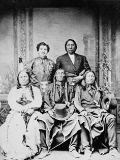 Group Portrait of Sitting Bull, Swift Bear, Spotted Tail, Julius Meyer, and Red Cloud, 1875 Photographic Print by Frank F. Currier at AllPosters.com