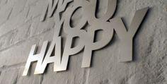 Do more of what makes you happy (Aluminium) von Westpaket auf DaWanda.com