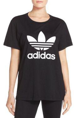 Classic Adidas logo, boyfriend t-shirt